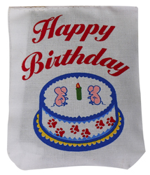 Happy Birthday Linen Bag Toy