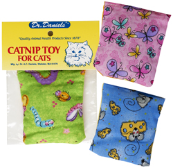 Cushion Catnip Bag Assorted Designs & Colors