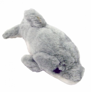 Mini Plush Dolphin Dog Toy