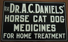 Dr. Daniels' Black Metal Sign
