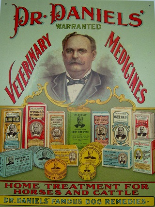 Dr. Daniels' Remedy Medicine Tin Sign