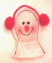 Ear Muff Snowman Catnip Toy
