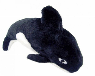 Jumbo Plush Orca Dog Toy